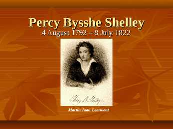 an analysis of the topic of the percy bysshe shelley