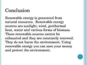 conclusion of sources of energy