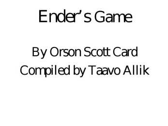 quot Ender s game quot-powerpoint presentation
