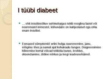 ii tüüpi diabeet
