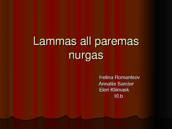 Lammas all paremas nurgas