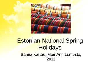Estonian National Spring Holidays